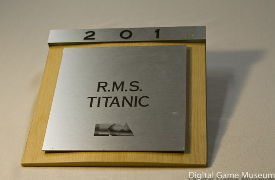 RMS Titanic nameplate